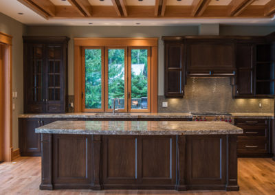 custom built homes Vancouver Island kitchen design