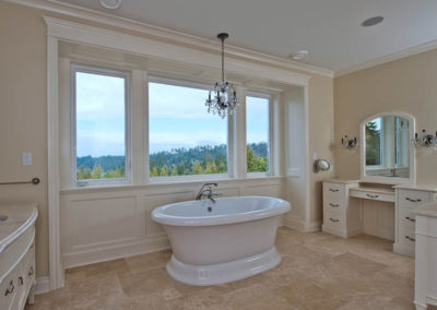 custom built homes Vancouver Island bathroom design