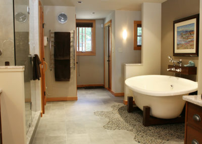 custom built homes Vancouver Island bathrooms